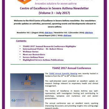 Severe asthma newsletter volume 3